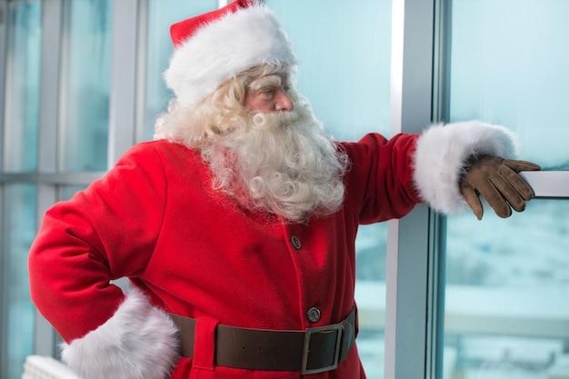 Santa no aeroporto