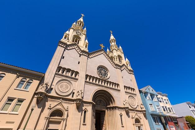 São francisco, st. peter, e, paul, igreja, em, quadrado washington