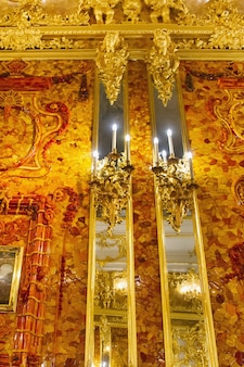 São petersburgo, rússia-agosto interior do palácio de catarina