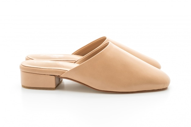 Sapato de couro moda mulher