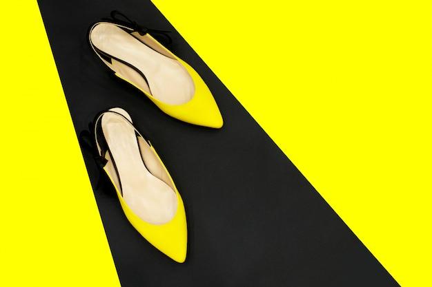 Sapatos de glamour moda hipster.