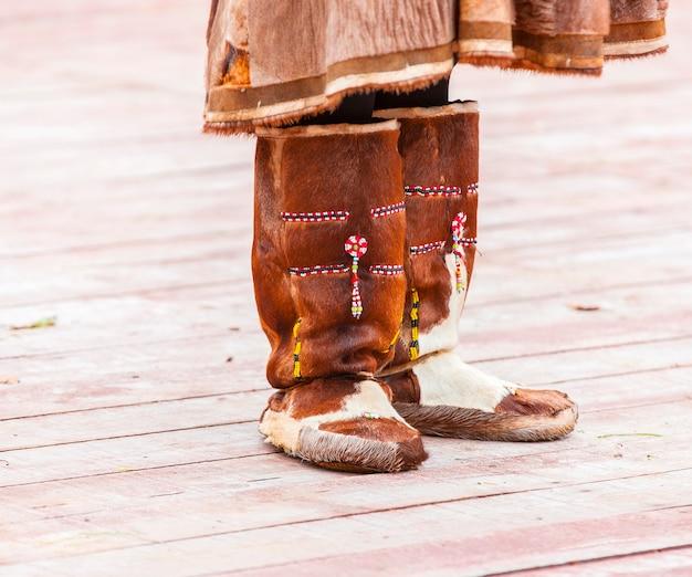 Sapatos de inverno para nativos de kamchatka.
