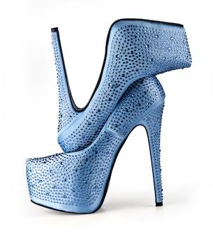 Sapatos de mulher azul