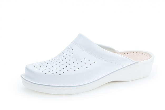 Sapatos de sola plana mulheres isolados no fundo branco