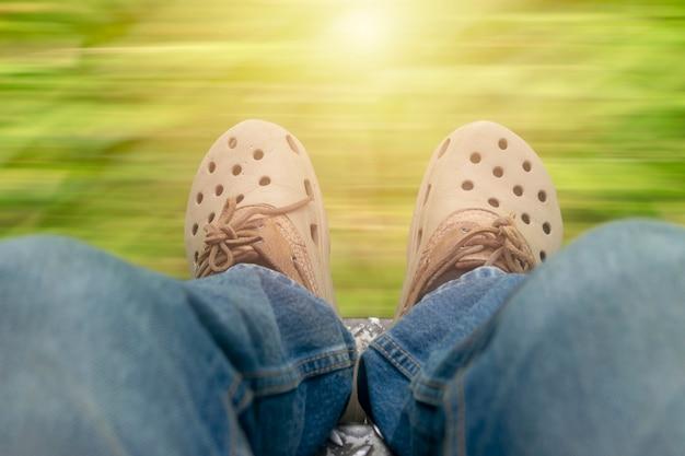 Sapatos de viagem.