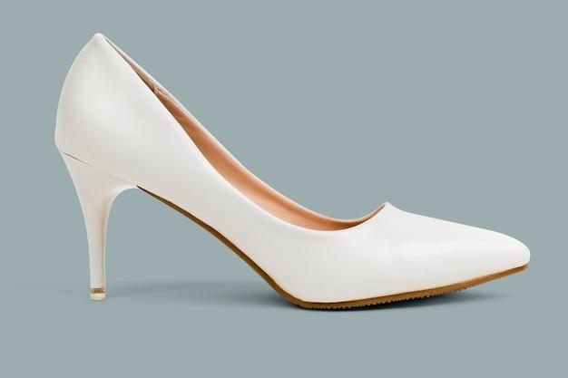 Sapatos femininos de salto alto branco