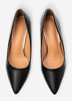 Sapatos femininos de salto alto pretos, moda formal