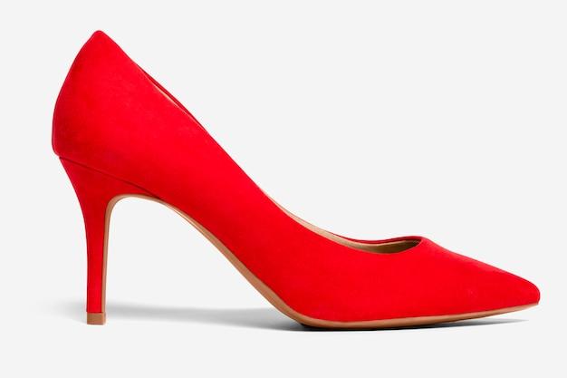Sapatos femininos de salto alto vermelhos, moda formal