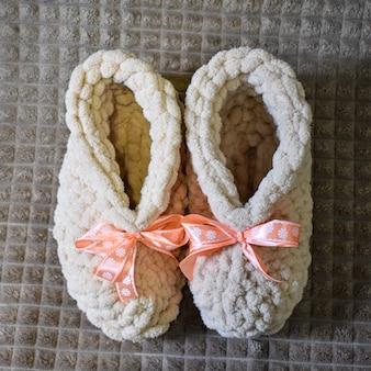 Sapatos femininos macios lindos feitos à mão