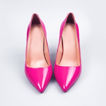 Sapatos femininos rosa