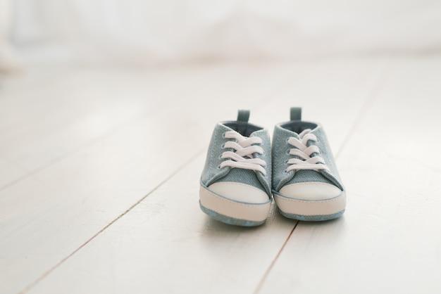 Sapatos infantis, tênis de ganga para bebé