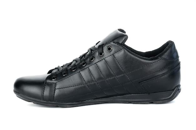 Sapatos masculinos, botas de couro, moda outono em branco