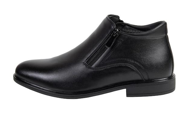 Sapatos masculinos pretos clássicos isolados no fundo branco