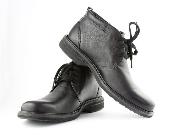 Sapatos pretos isolar