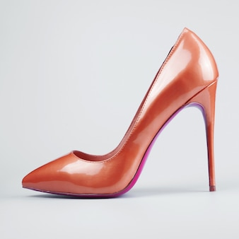 Sapatos sexuais femininos vermelhos
