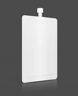 Saquinho de creme cosmético branco