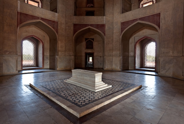 Sarcófago. túmulo de humayun, delhi, índia