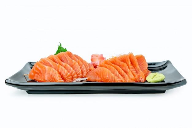 Sashimi de salmão. conceito de comida do japão