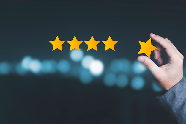 Satisfação do cliente e conceito de avaliação de serviço de produto