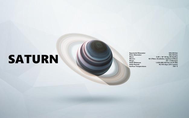 Saturno. estilo minimalista