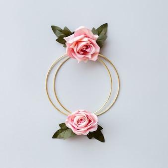 Saudação de casamento floral