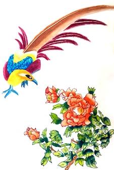 Saudação vermelho escova flor floral fundo