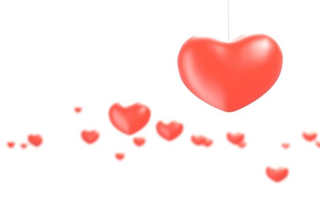 Saúde do coração e conceito do amor - ilustração 3d