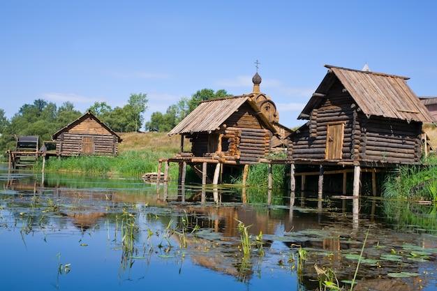 Sauna de madeira