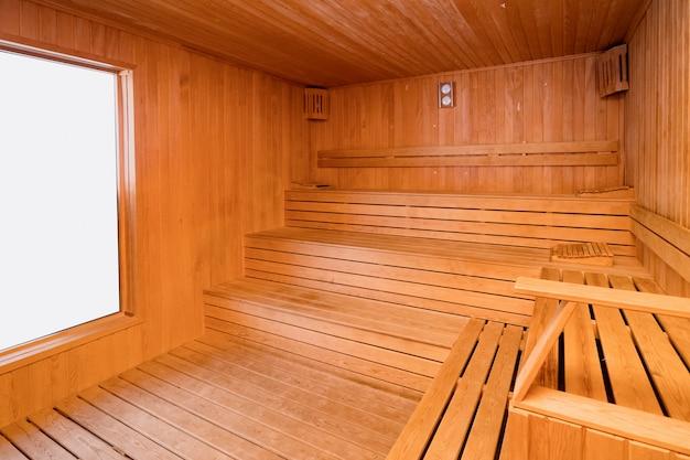 Sauna turca de madeira