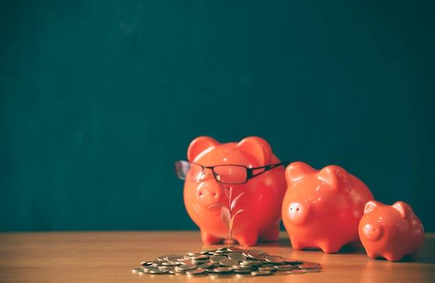 Saving money salvando ou investindo conceito.
