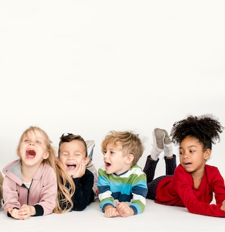 Schooler frinds felicidade bonito brincalhão