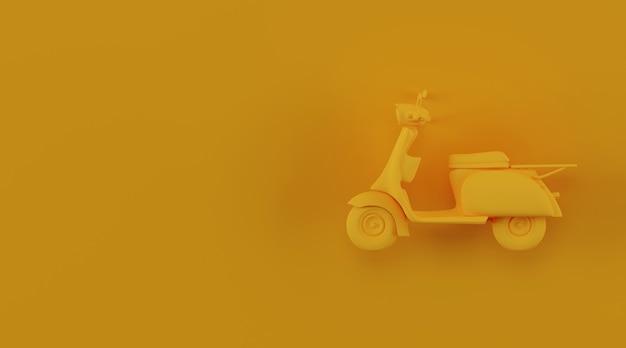 Scooter com espaço de cópia. conceito de entrega.