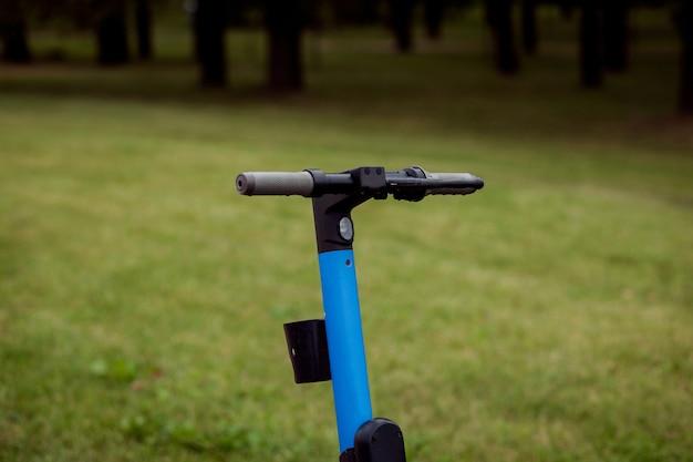 Scooter elétrica. transporte pessoal moderno