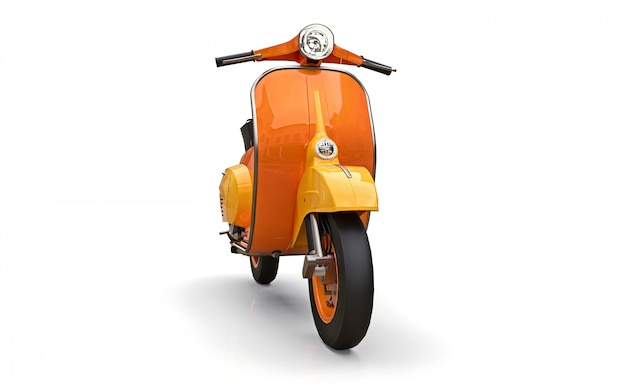 Scooter laranja europeia vintage