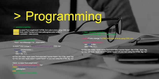 Script de programação texto codificando palavra
