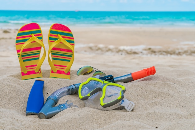 Scuba closeup verão de segurança respiratória