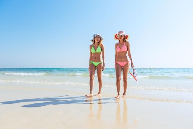 Scuba, verão, jovem, praia, relaxante