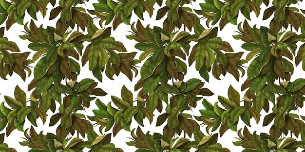 Seamless botanical pattern beautiful leaves background de ramos entrelaçados