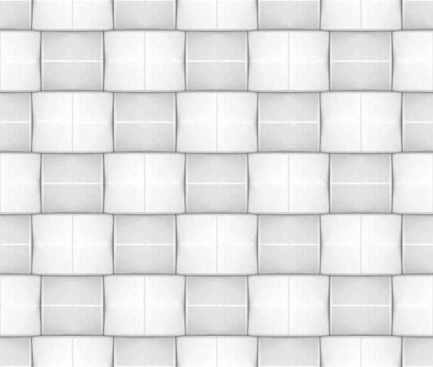 Seamless moderno tecelagem branca e cinza forma quadrada parede de fundo.