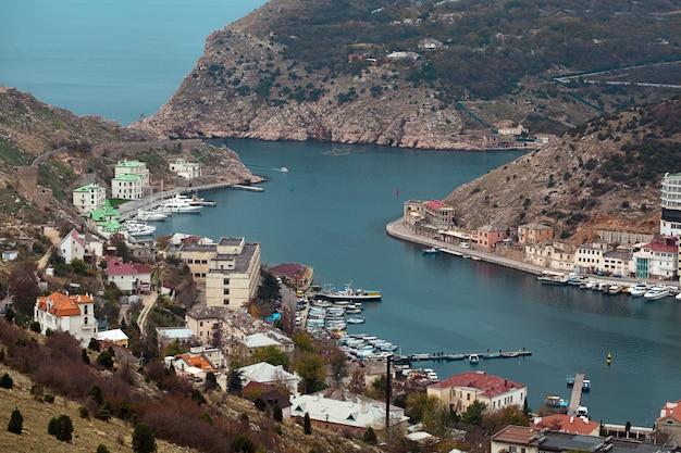 Seaport balaklava na crimeia ucrânia