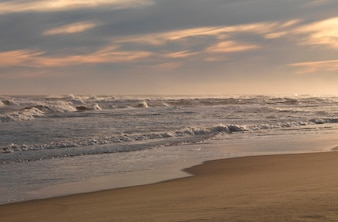Seascape ao longo da costa no The Hamptons, Nova Iorque