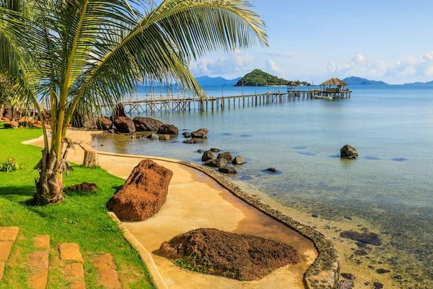 Seascape da ilha de mark, província de trad, tailândia.