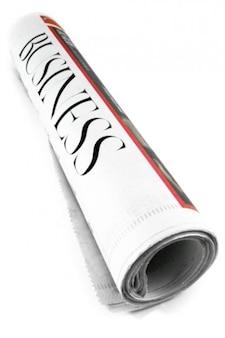Seção de jornal de negócios