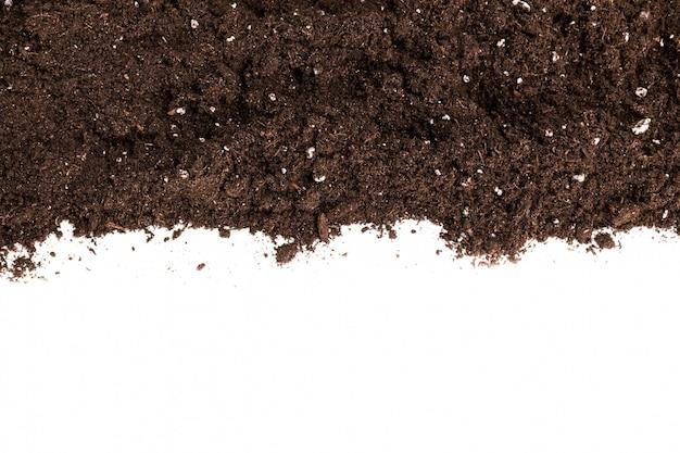 Seção de solo ou sujeira isolada