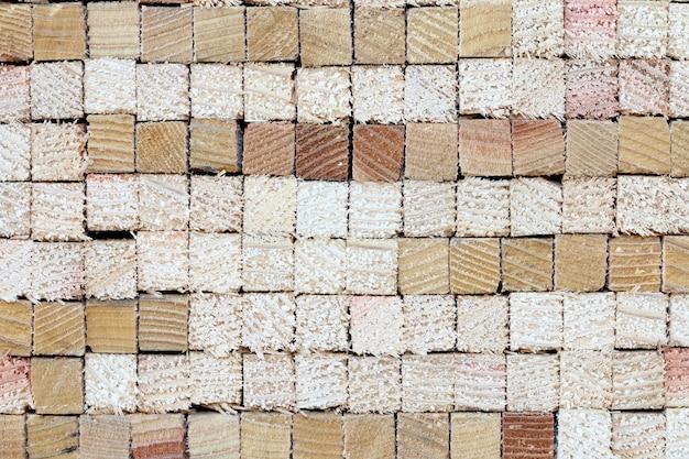 Seção transversal cortada do fundo de madeira