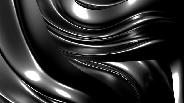 Seda dourada ou tecido com reflexos metálicos fundo renderização de ilustração 3d