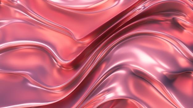 Seda rosa púrpura ou tecido com reflexos metálicos. fundo de luxo. ilustração 3d, renderização em 3d.