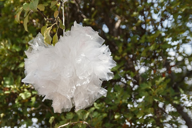 Segunda vida da embalagem de plástico para o planeta verde resíduos de plásticos sem resíduos de plástico