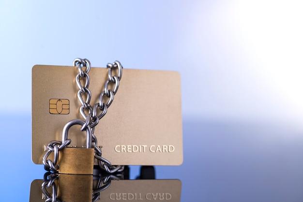 Segurança do cartão de crédito, negociação segura.