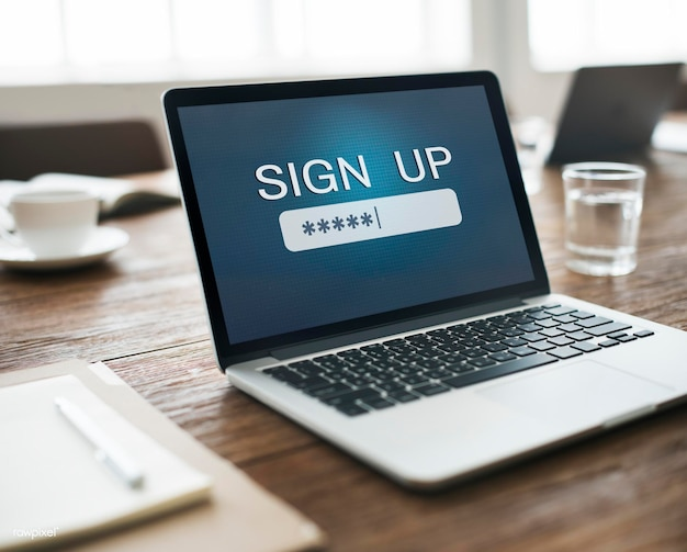 Segurança sign log in up password secret concept